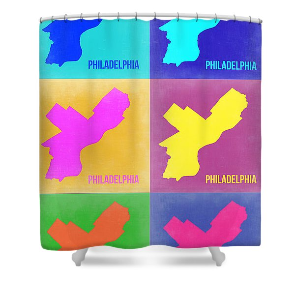 Philadelphia Pop Art Map 3 Shower Curtain