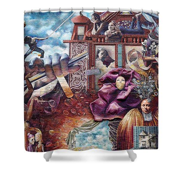 Philadelphia - Theater Of Life Mural Shower Curtain