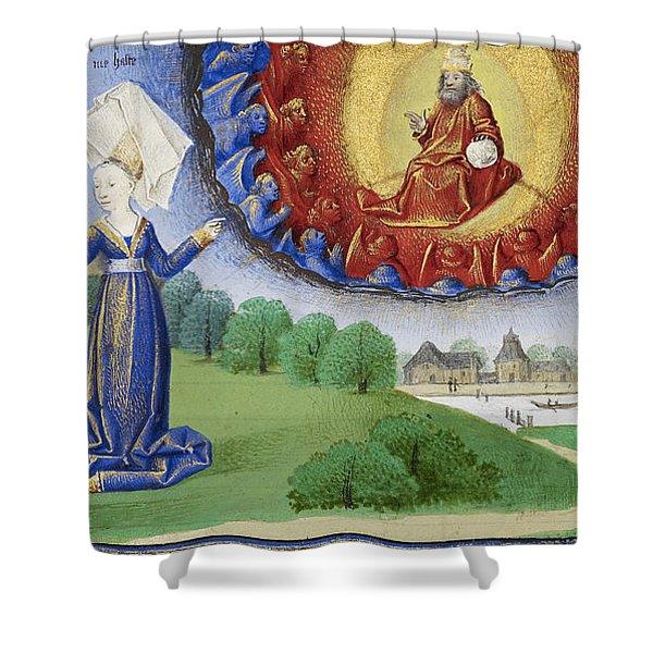 Philosophy Instructs Boethius On God Shower Curtain