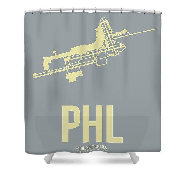 Phl Philadelphia Airport Poster 1 Shower Curtain