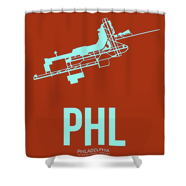 Phl Philadelphia Airport Poster 2 Shower Curtain