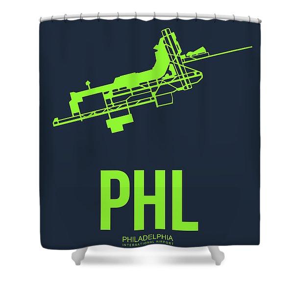 Phl Philadelphia Airport Poster 3 Shower Curtain
