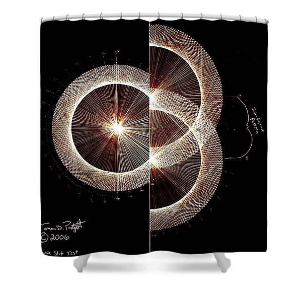 Photon Double Slit Test Hand Drawn Shower Curtain