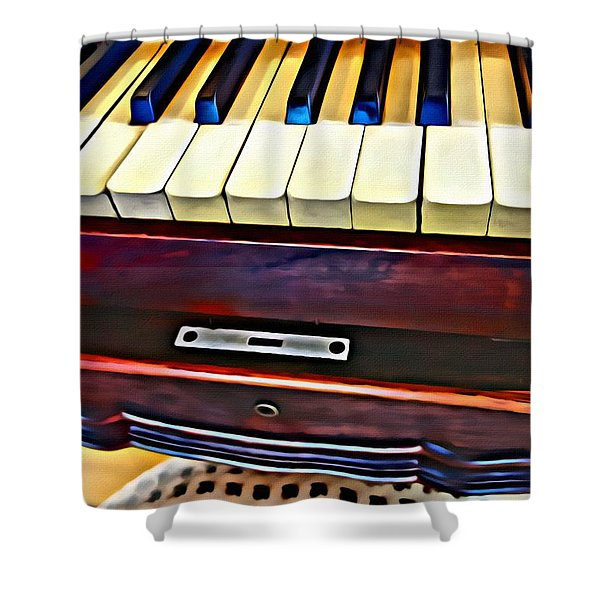 Piano And Stool Shower Curtain