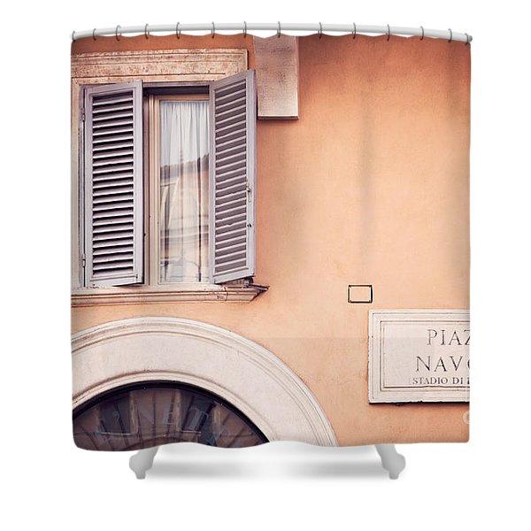 Piazza Navona Shower Curtain