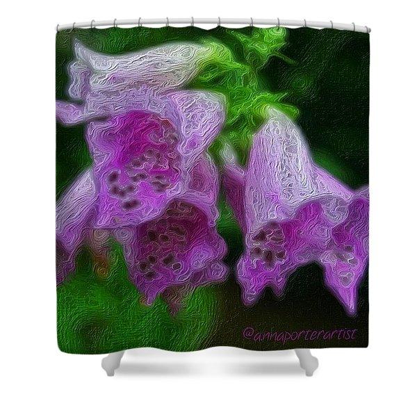 Pick Your Poison - Glazed Foxglove Shower Curtain