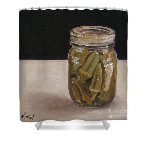 Pickled Okra Shower Curtain