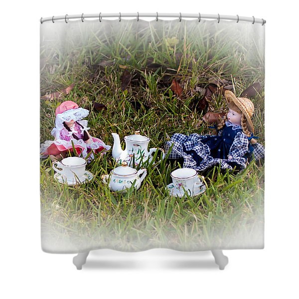 Picnic For Dolls Shower Curtain