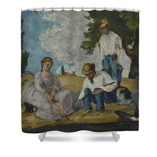 Picnic On A Riverbank, 1873-74 Shower Curtain