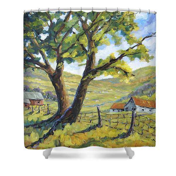 Picnic With A View By Prankearts Shower Curtain