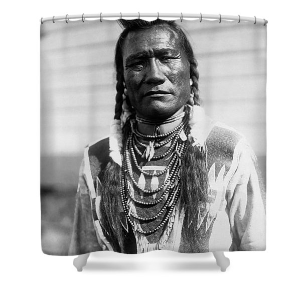 Piegan Indian Man Circa 1909 Shower Curtain