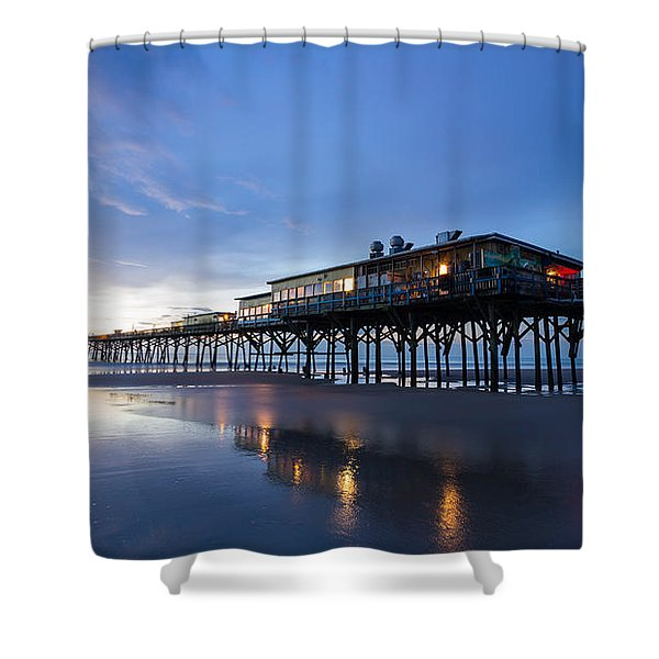 Pier At Twilight Shower Curtain