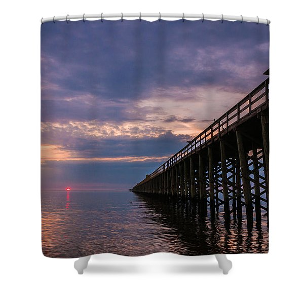 Pier To The Horizon Shower Curtain