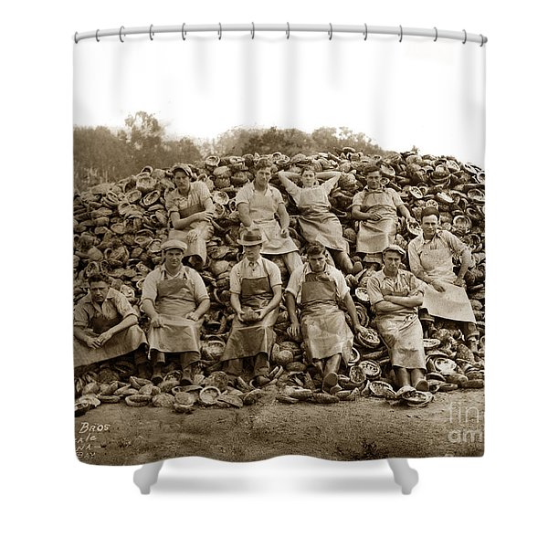 Pierce Brothers Abalone Morro Bay Circa 1925 Shower Curtain