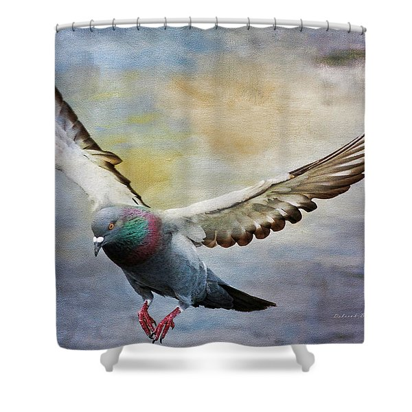 Pigeon On Wing Shower Curtain