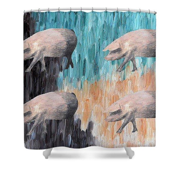 Piggies Shower Curtain