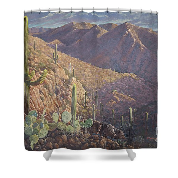 Pigs And Needles Shower Curtain