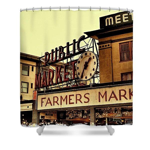 Pike Place Market - Seattle Washington Shower Curtain