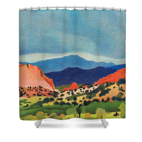 Garden Of The Gods Pikes Peak Shower Curtain