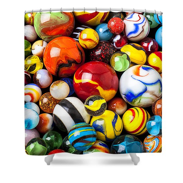 Pile Of Marbles Shower Curtain