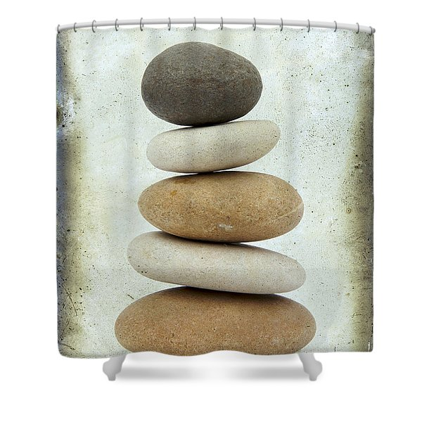 Pile Of Pebbles Shower Curtain