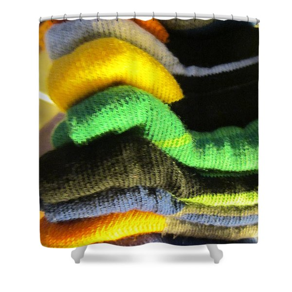 Piled Up Shower Curtain