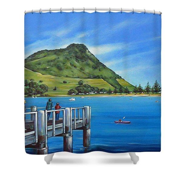 Pilot Bay Mt Maunganui 201214 Shower Curtain
