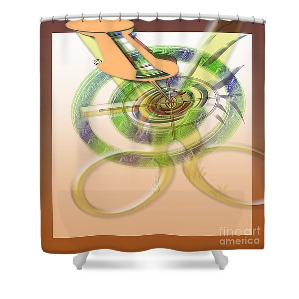 Pin Pointer Shower Curtain