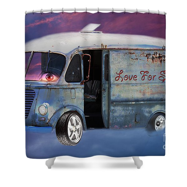Shower Curtain featuring the photograph Pin Up Cars - #2 by Gunter Nezhoda