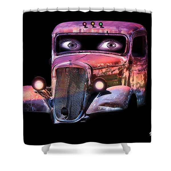 Shower Curtain featuring the photograph Pin Up Cars - #3 by Gunter Nezhoda