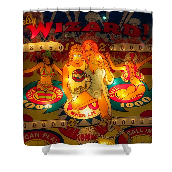 Pinball Wizard Tommy Vintage Shower Curtain