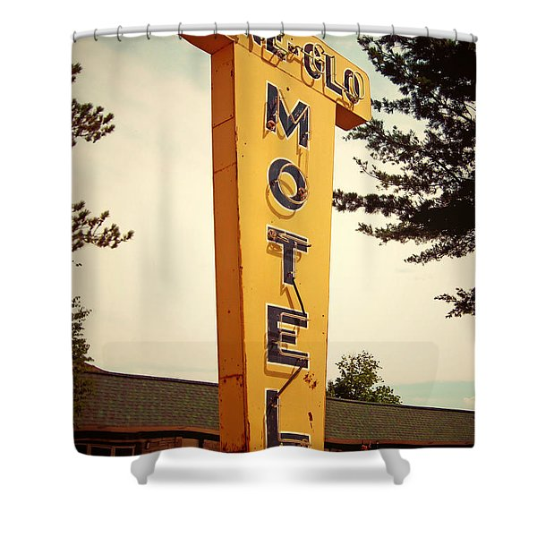 Pine Glo Motel Shower Curtain