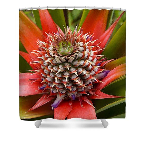 Pineapple Plant Shower Curtain