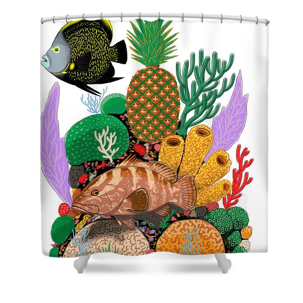 Pineapple Reef Shower Curtain