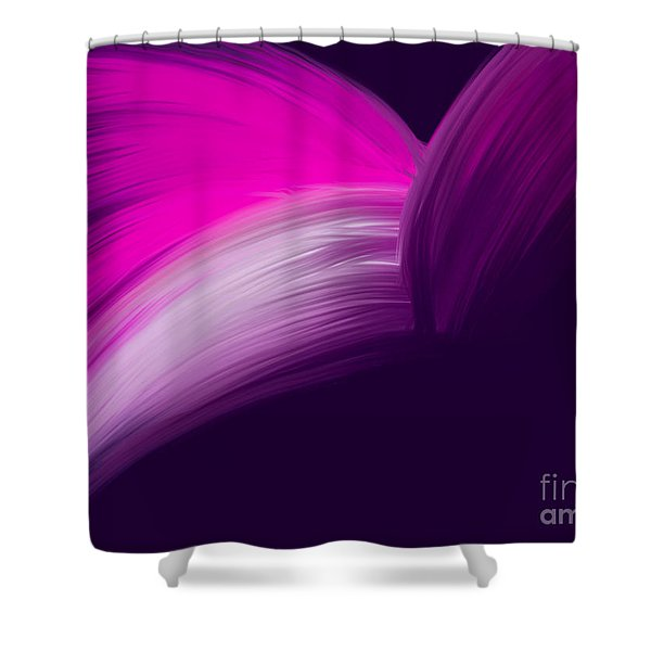 Pink And Purple Curves Shower Curtain