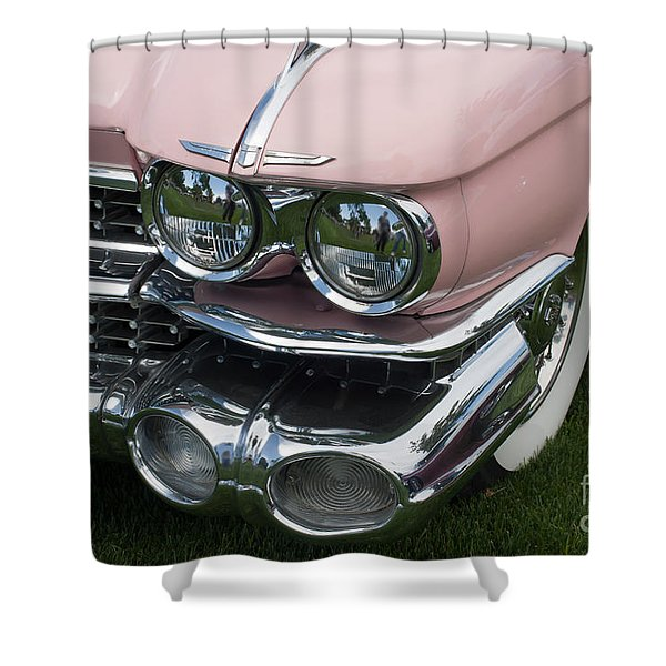 Shower Curtain featuring the photograph Pink Caddy by Gunter Nezhoda