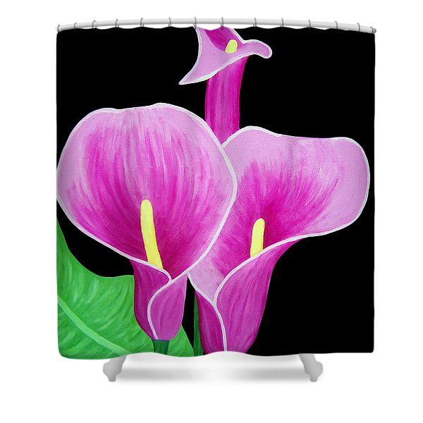 Pink Calla Lillies 2 Shower Curtain
