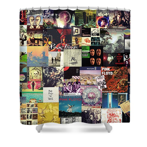 Pink Floyd Collage I Shower Curtain