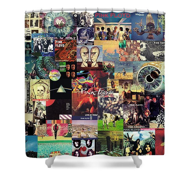 Pink Floyd Collage II Shower Curtain