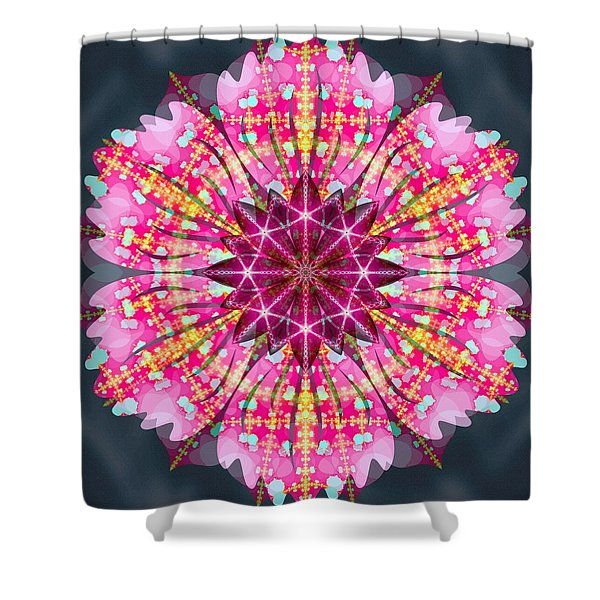Pink Lightning Shower Curtain