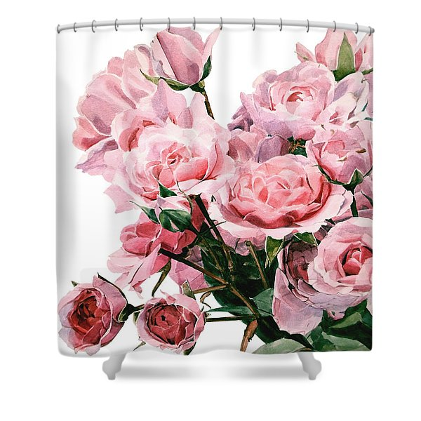 Pink Rose Bouquet Shower Curtain