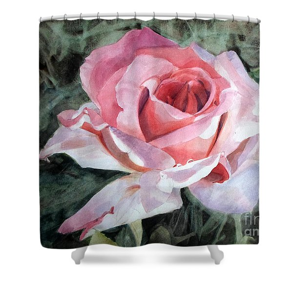 Pink Rose Greg Shower Curtain