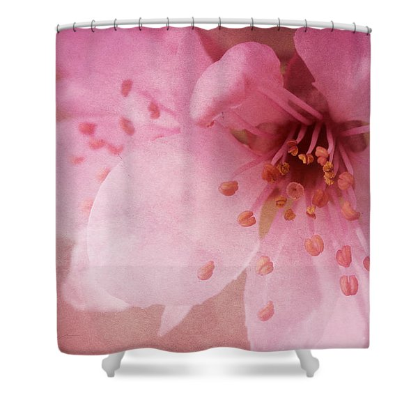 Pink Spring Blossom Shower Curtain