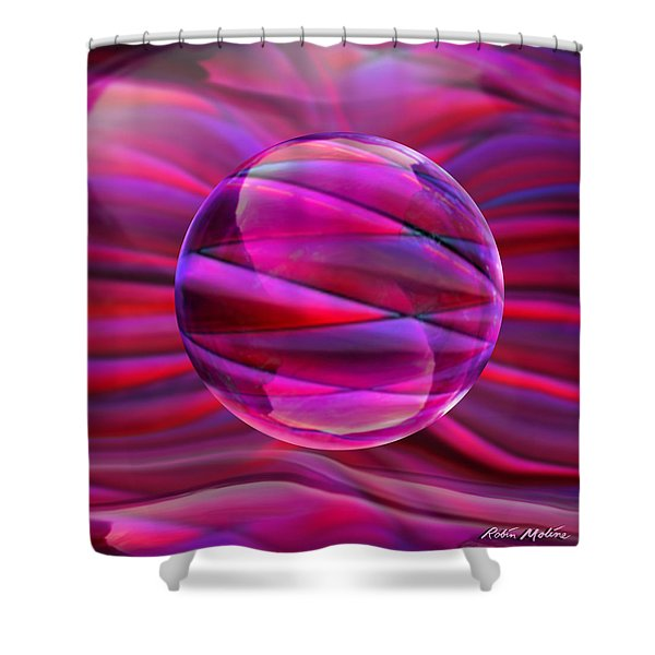 Pinking Sphere Shower Curtain