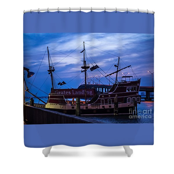 Pirate Ship Shower Curtain