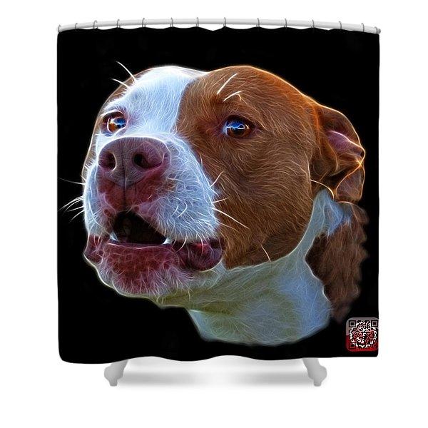 Pitbull 7769 - Bb - Fractal Dog Art Shower Curtain