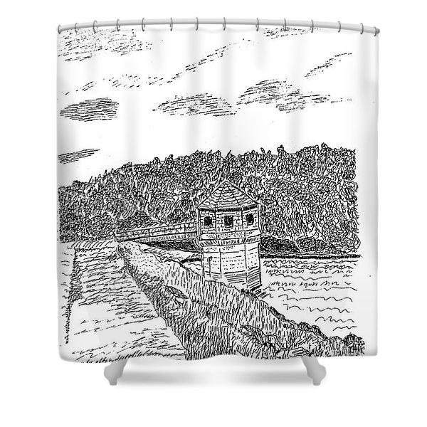 Pittsburg Dam Shower Curtain