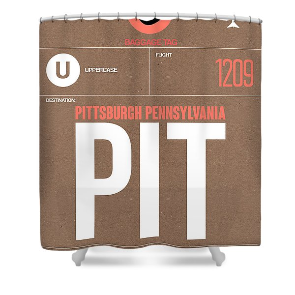 Pittsburgh Airport Poster 2 Shower Curtain