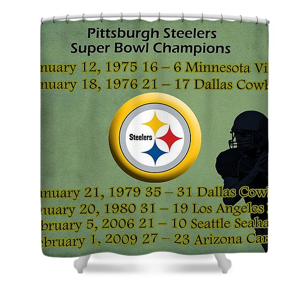 Pittsburgh Steelers Super Bowl Wins Shower Curtain