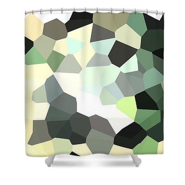 Pixel Money Shower Curtain